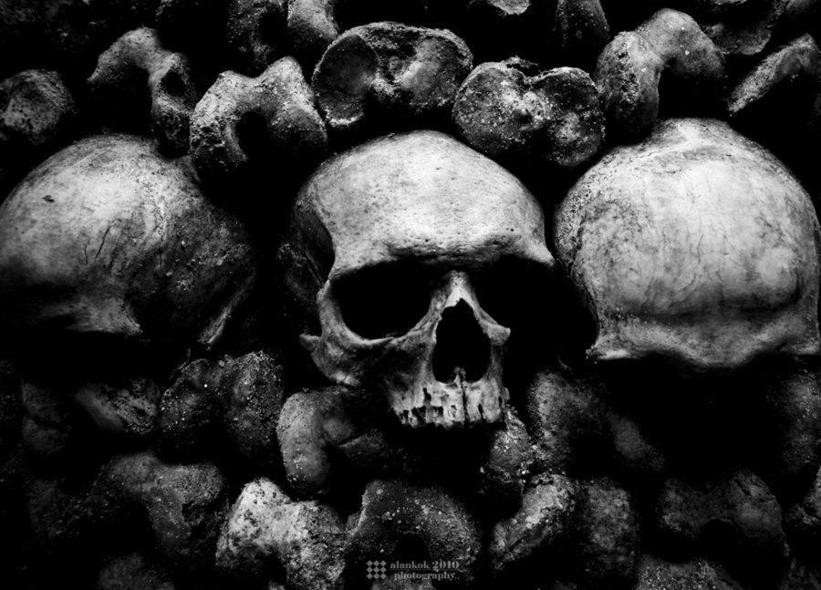 Very Dark Gothic Skulls | Darkness | Skulls and Bones Art ...  Very Dark Gothi...