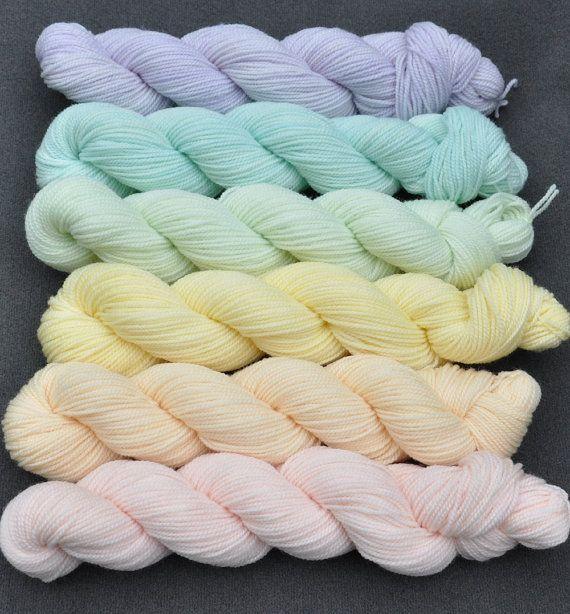 Pastel Color Wheel Yarn Set Yarn Colors Yarn Pastel Colors