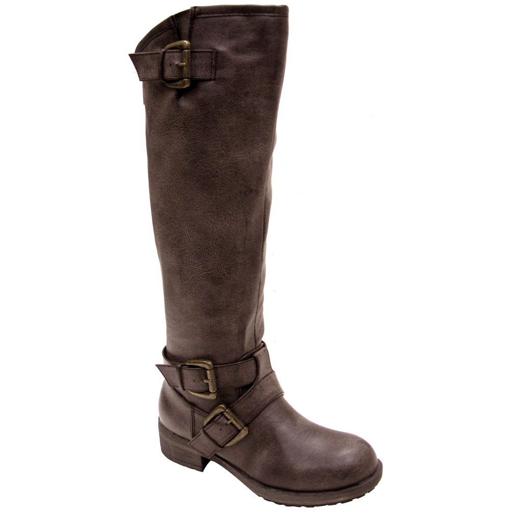 Madden Girl Legacie Brown Women's Vegan Motorcycle Boots