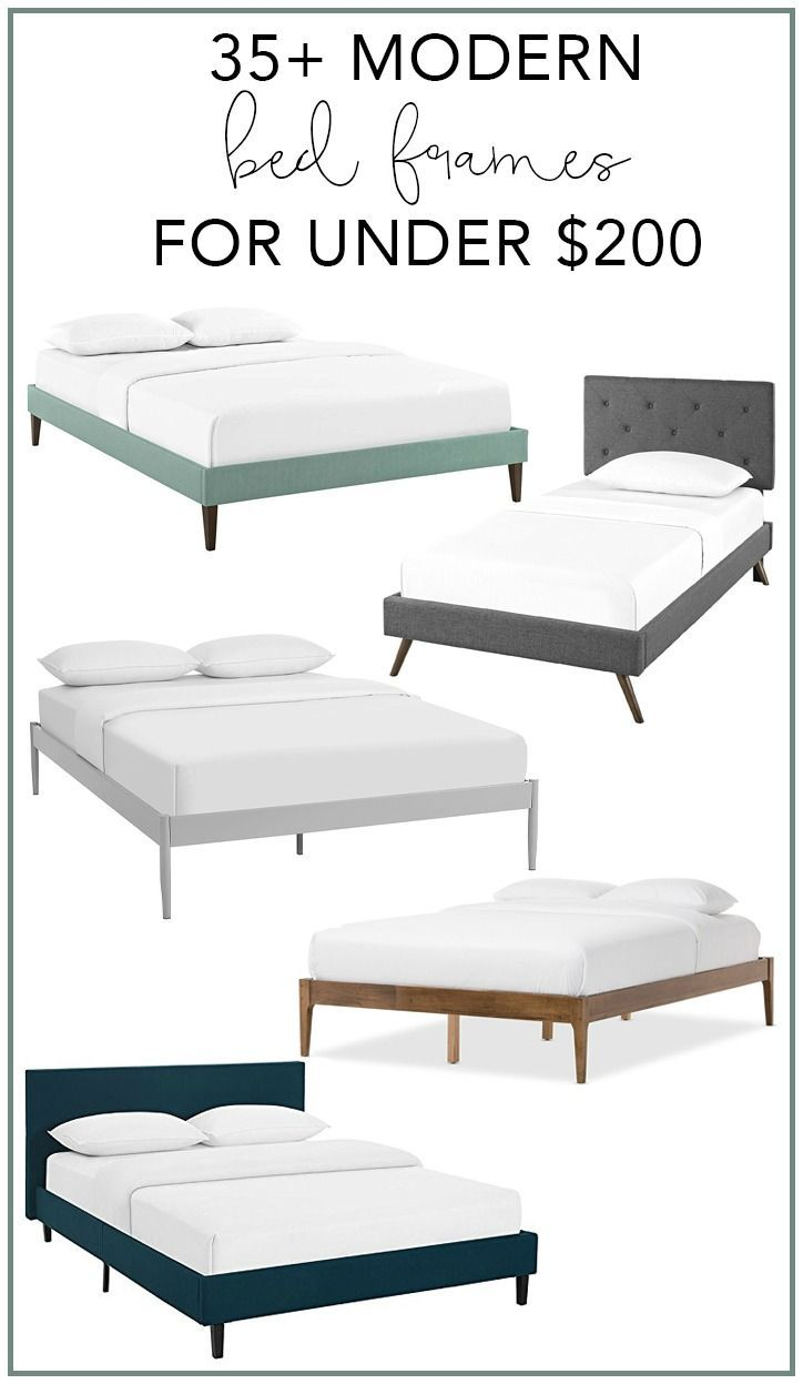 35+ Modern Bed Frames for Under $200