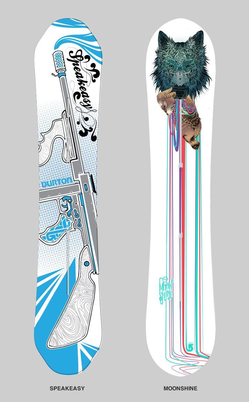 "d619209a87c ""1920 s  amp  Blue Wolf"" Burton Snowboards"
