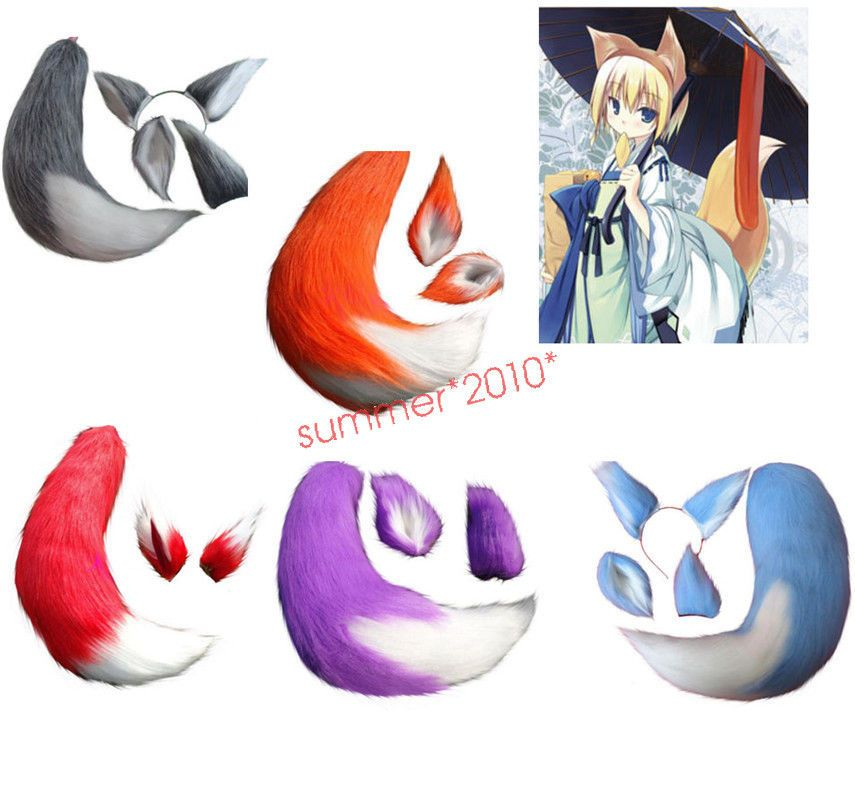 Japan Anime Spice and Wolf Holo Fox Ears Tails Halloween Cosplay Costumes Props