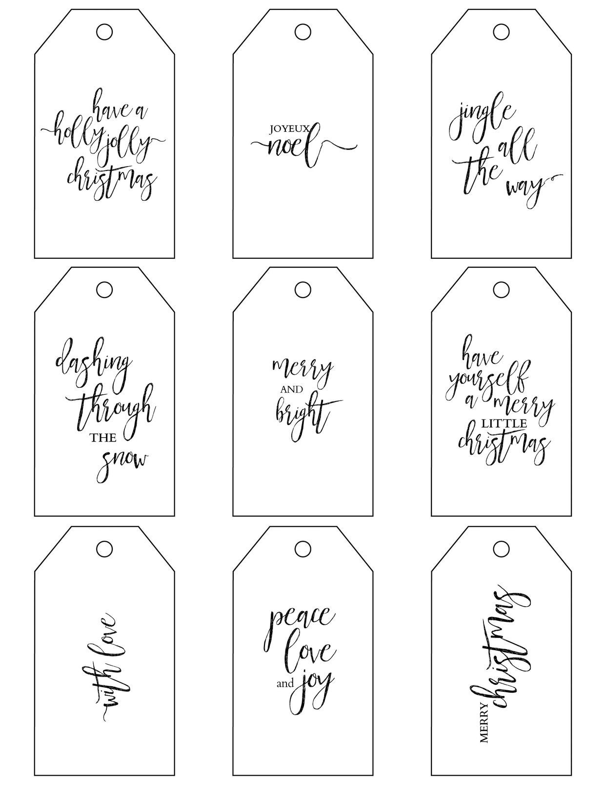 photo regarding Free Christmas Tag Printable known as No cost Xmas Reward Tag Printables Vacations Xmas