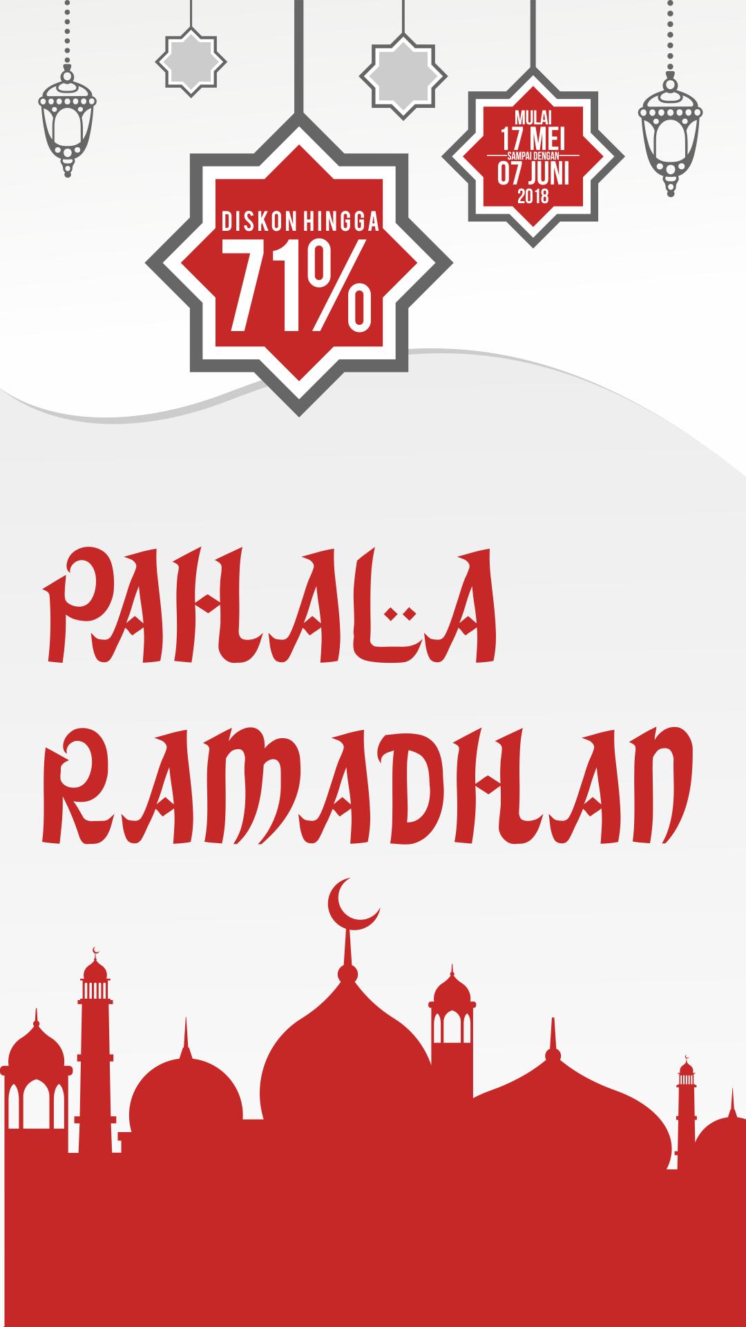 Marhaban ya Ramadhan Nikmati diskon spesial bulan puasa hingga dengan produk pilihan