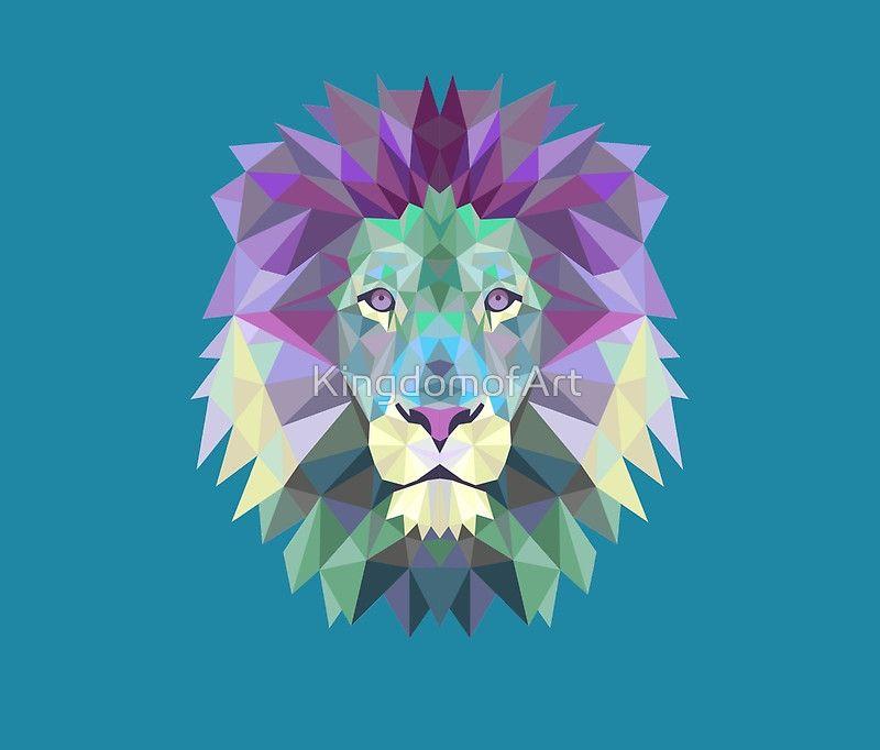 Main Thumb Lion Illustration Geometric Art Geometric Lion Wallpaper Geometric Lion Tattoo