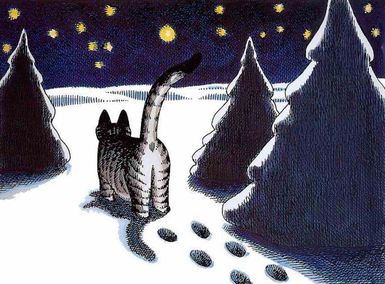 Компьютерной открытки, веселые рисунки котов зимой