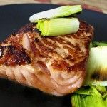 Recipe: Japanese soy ginger salmon with roasted leeks - Pickled Plum
