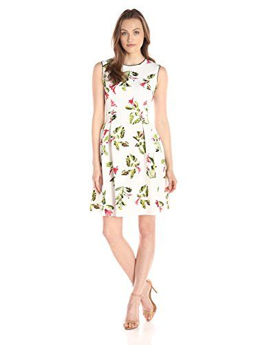 Women's Dresses Sleeveless Floral Print Fit-and-Flare