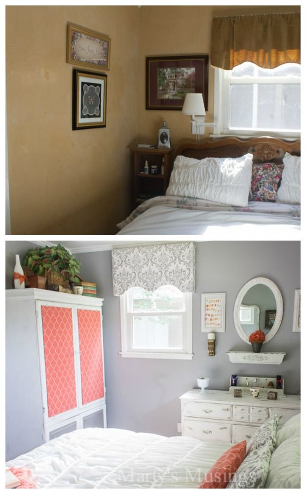 Best Gray And Coral Bedroom Makeover Budget Tips And Tricks 400 x 300