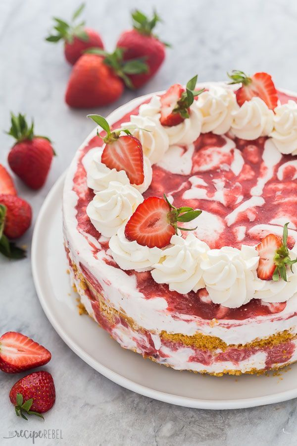 This Strawberry Shortcake Ice Cream Cake is a showstopping strawberry dessert! Made with shortbread cookies, ice cream, and homemade strawberry sauce. VIDEO Strawberry Shortcake Ice Cream Cake is a showstopping strawberry dessert! Made with shortbread cookies, ice cream, and homemade strawberry sauce. VIDEO