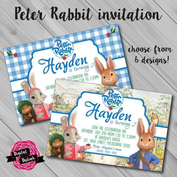 Peter Rabbit new TV version Invitation. Choose by DigitalDaliah ...