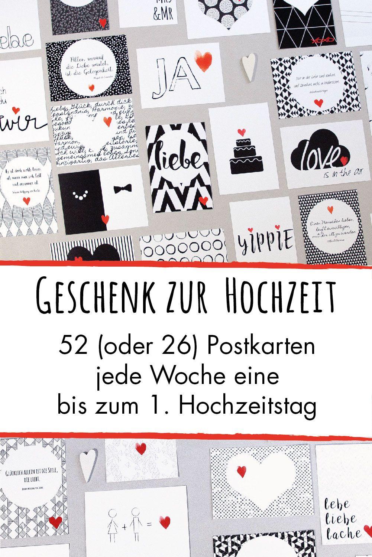 Hochzeitsspiel 52 Verschiedene Postkarten 1 Jahr Lang Fur Das Hochzeitspaar 4th Edition Besonderes Geschenk Zur Hochzeit In 2020 Cards Playing Cards Games
