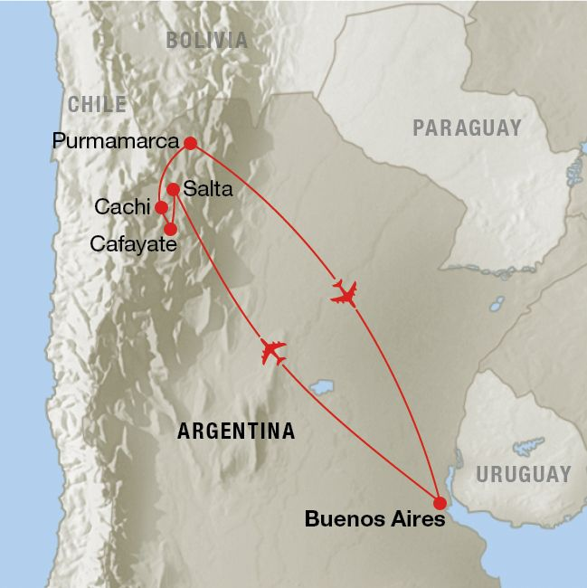 Map of a route for a holiday around argentina perfect time is map of a route for a holiday around argentina perfect time is during the uks gumiabroncs Image collections