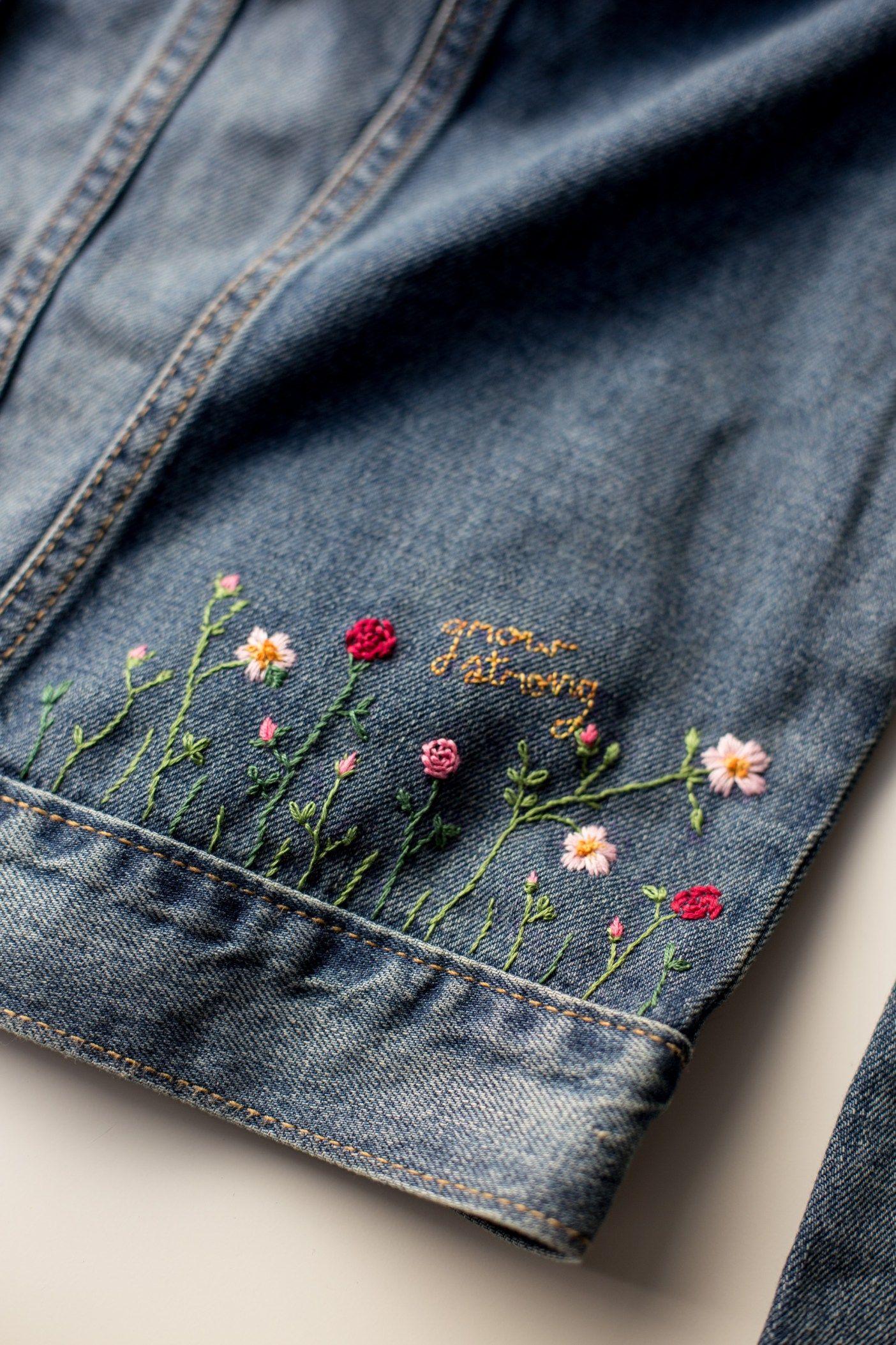 Photo of Lag en fabelaktig DIY pyntet Jean-jakke – lin og hyssing
