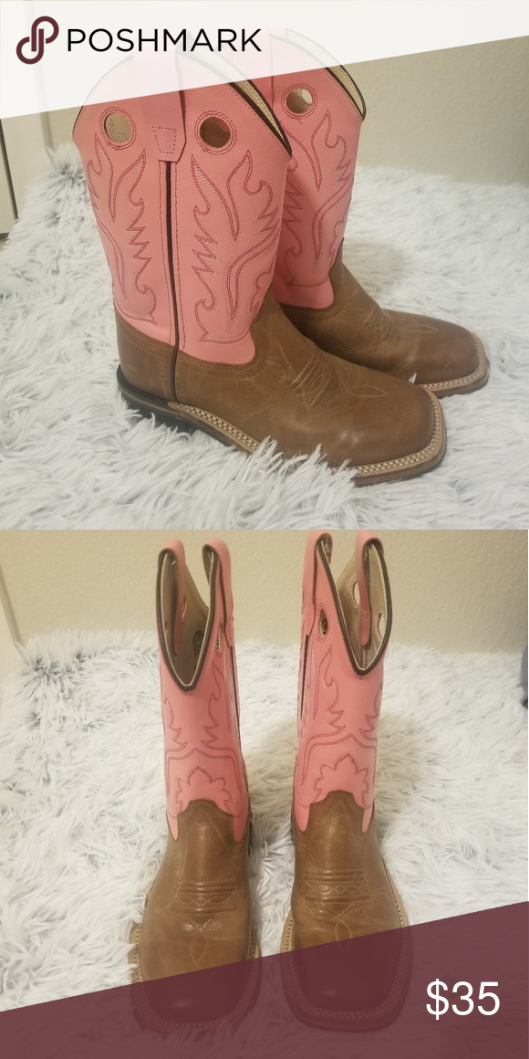 469fed8bb4e Old West Girls' Pink Cowgirl Boots - Square Toe Bought them for my ...