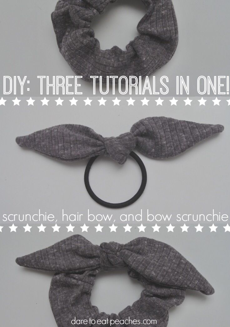 DIY: Easy Bow Scrunchies, Plus Two Extra Projects From The Same Steps! - Dare to eat peaches #scrunchiesdiy