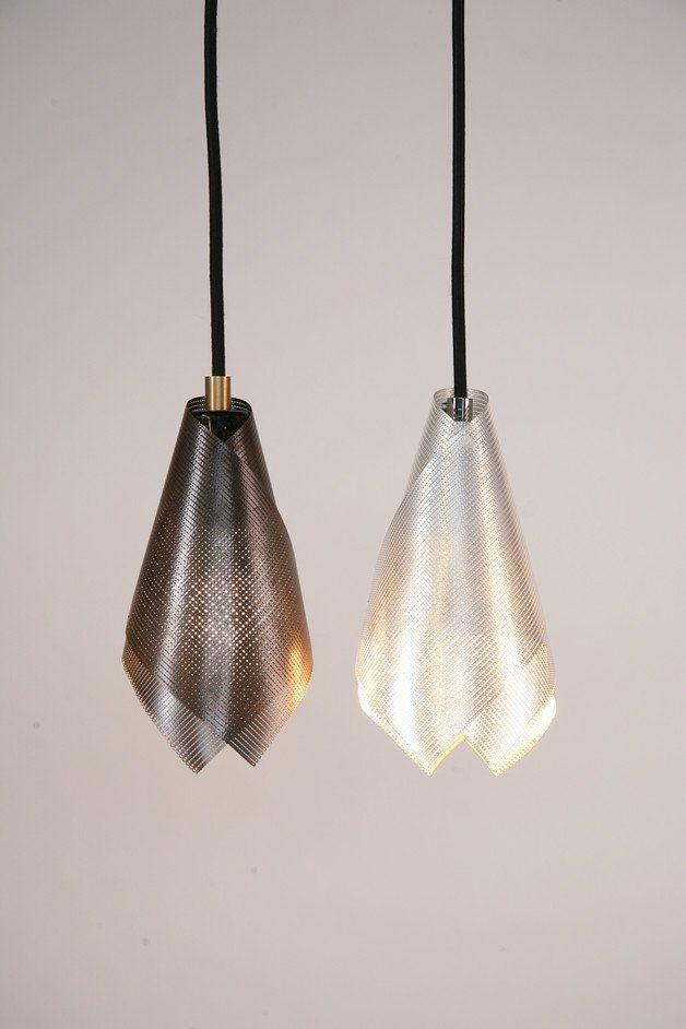 Hängelampen - Stricklicht Silber - ein Designerstück von Emmanuel-Tauch bei…