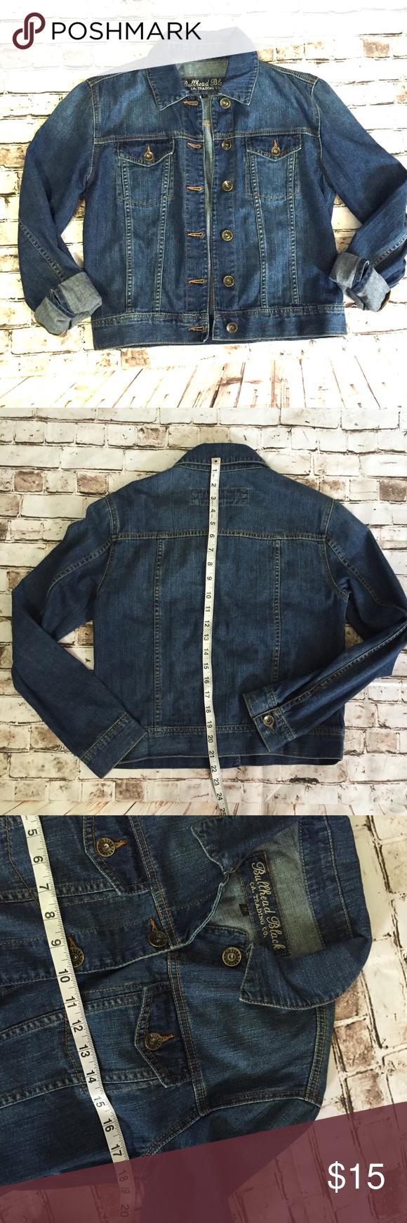 Bullhead black small denim Jean jacket Excellent condition Bullhead Jackets & Coats Jean Jackets