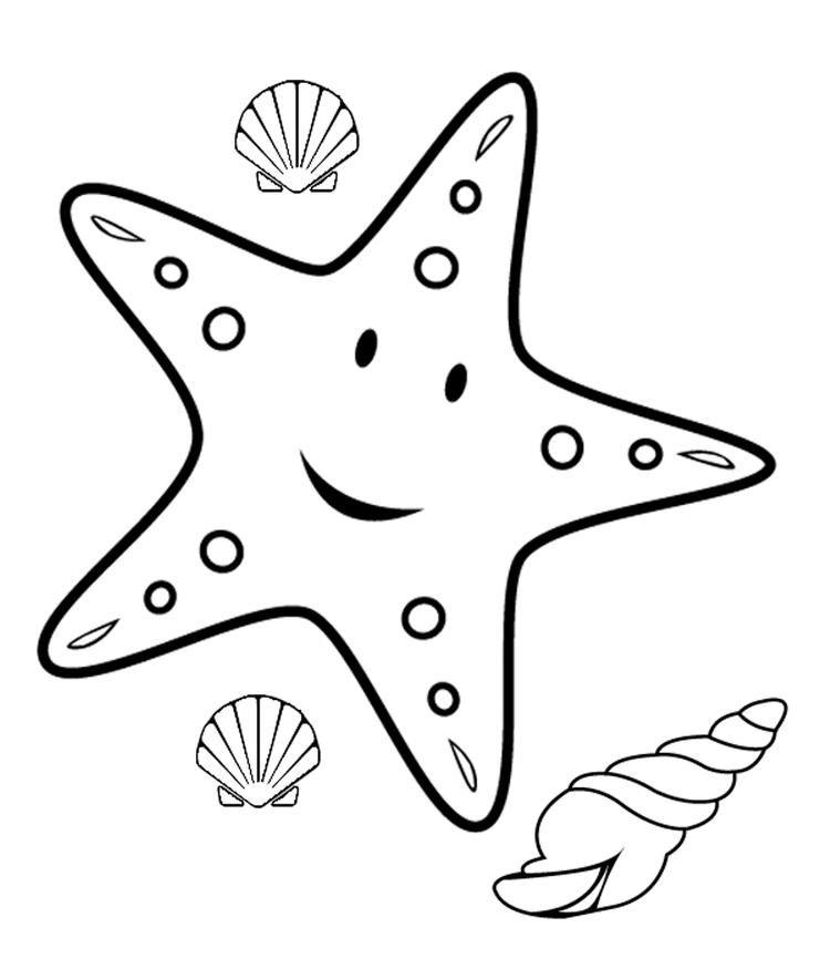 Starfish Coloring Pages Free Malvorlagen Tiere Malvorlage Dinosaurier Fische Basteln