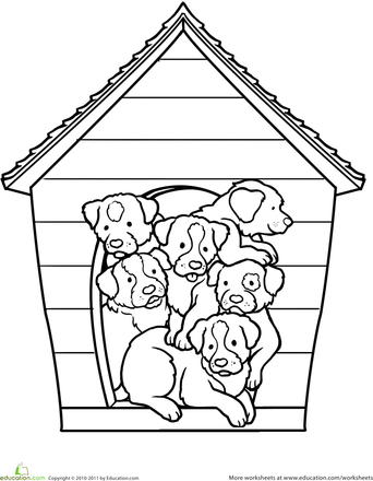 Puppies Worksheet Education Com Puppy Coloring Pages Coloring Pages Coloring Pages For Kids
