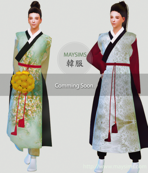 f3f18ac9e6 Sims 4 Clothes Korean traditional Clothes. (HanBok)