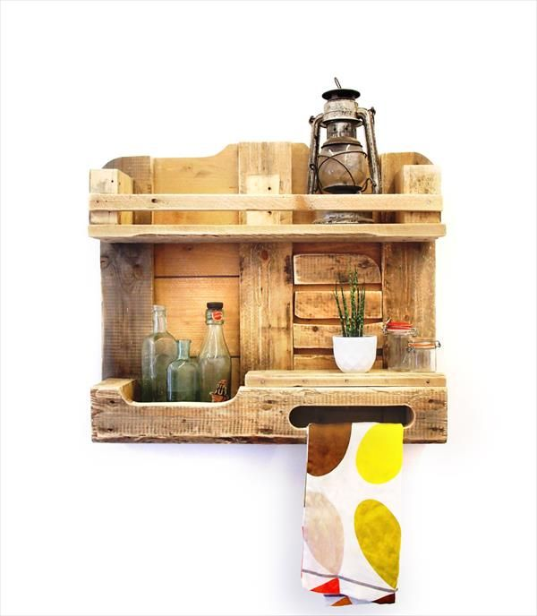 Decorative And Storage Friendly Pallet Shelf Unit Antique Kitchen