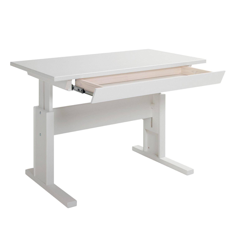 Schreibtisch 30256 In Weiss Mit Schublade B 120cm