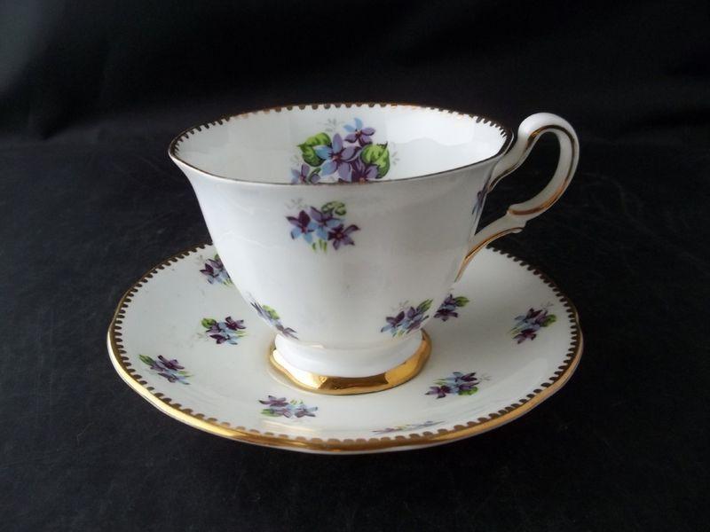 Royal Stafford Bone China Sweet Violets Cup Saucer England