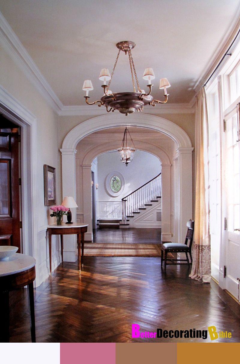 Entry hallway lighting  hallway arch banister mouldinggorgeous  Hallways  Pinterest