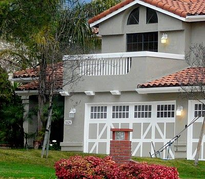 Lovely Gray House With Red Roof Tiles Red Roof House House Paint Exterior Exterior Paint Colors For House