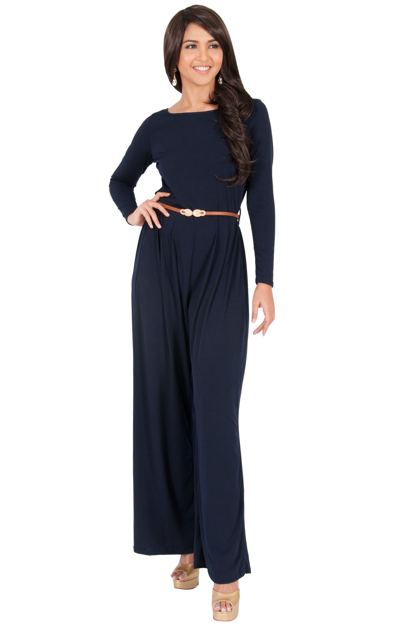75643e3b4a8c SOPHIA - Long Sleeve Flare Bell Bottom Pants Wide-Leg Jumpsuit Romper