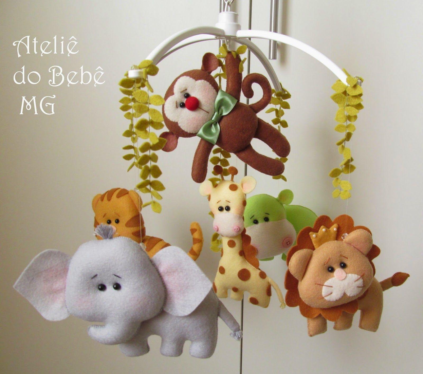Ateli Do Beb Mg Decora O Safari Feltro Fofo Pinterest  ~ Decoração De Quarto De Bebe Bichinhos Da Floresta