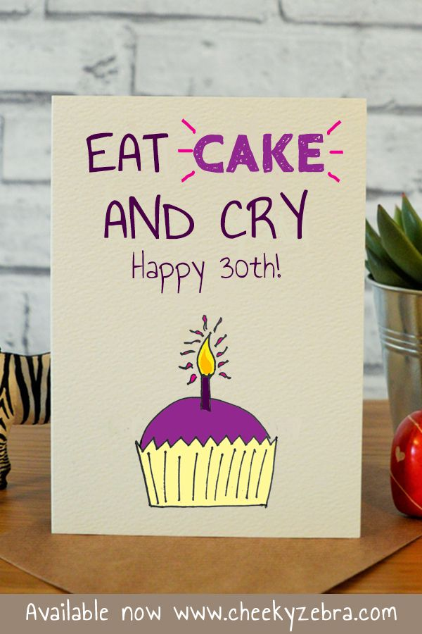 Funny 30th Birthday Card This Hilarious Happy Is Perfect For The Female