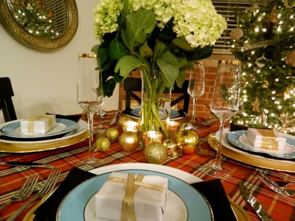 Christmas Table Setting Gold Decoration Mit Bildern
