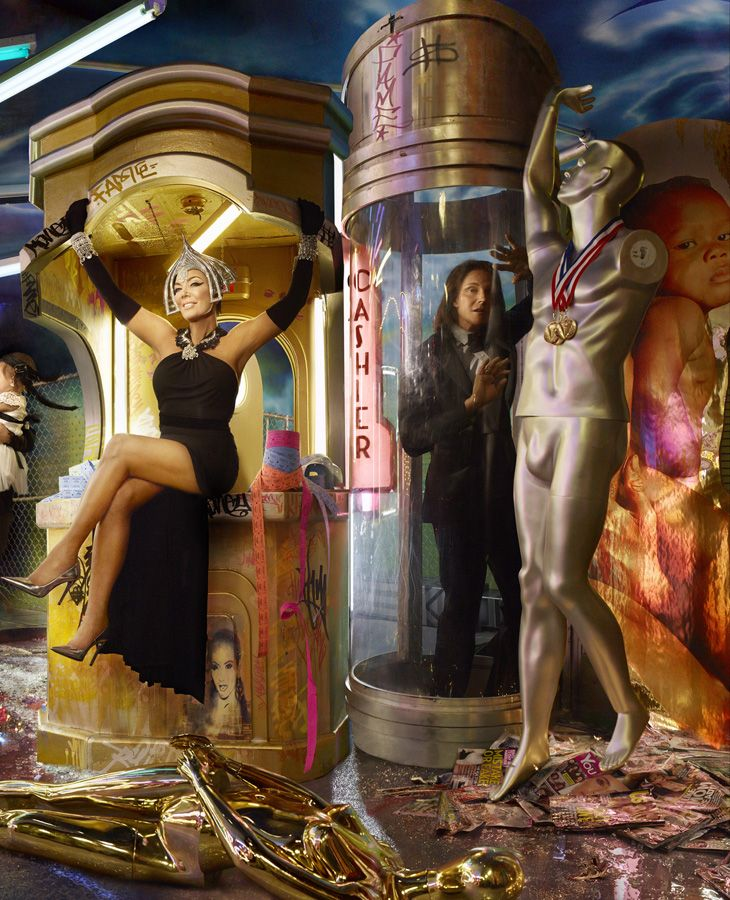 The Kardashians Christmas Card By David Lachapelle Campaign 1