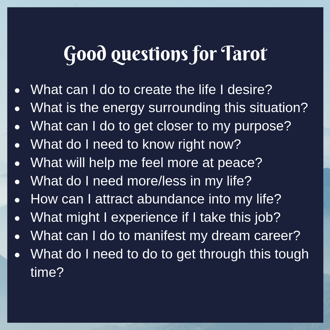 Good questions for tarot   Tarot reading spreads, Tarot learning ...