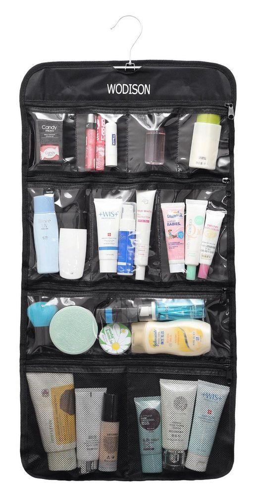 Ng Organizer Hanging Clear Storage Bag Toiletry Travel Folding Bathroom Wodison