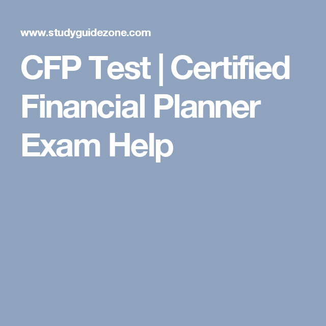 what is the cfp exam