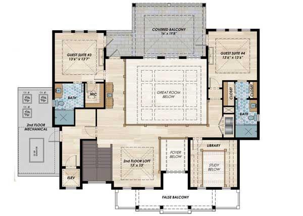 Plan 31838dn High End Florida House Plan Florida House Plans Mediterranean Style House Plans Lake House Plans