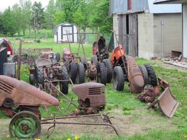 Parts Yard Walk Behind Tractor Vintage Tractors Garden Tractor
