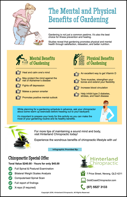 The Mental And Physical Benefits Of Gardening Infographics Gold