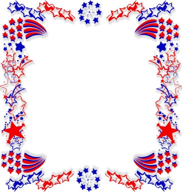 Caratulas Con Dibujo De Hojas Clip Art Borders Free Clip Art 4th Of July Fireworks
