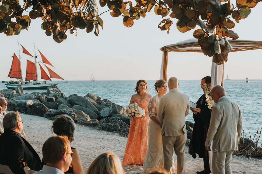 Fort Zachary Taylor Wedding and Fortress Reception