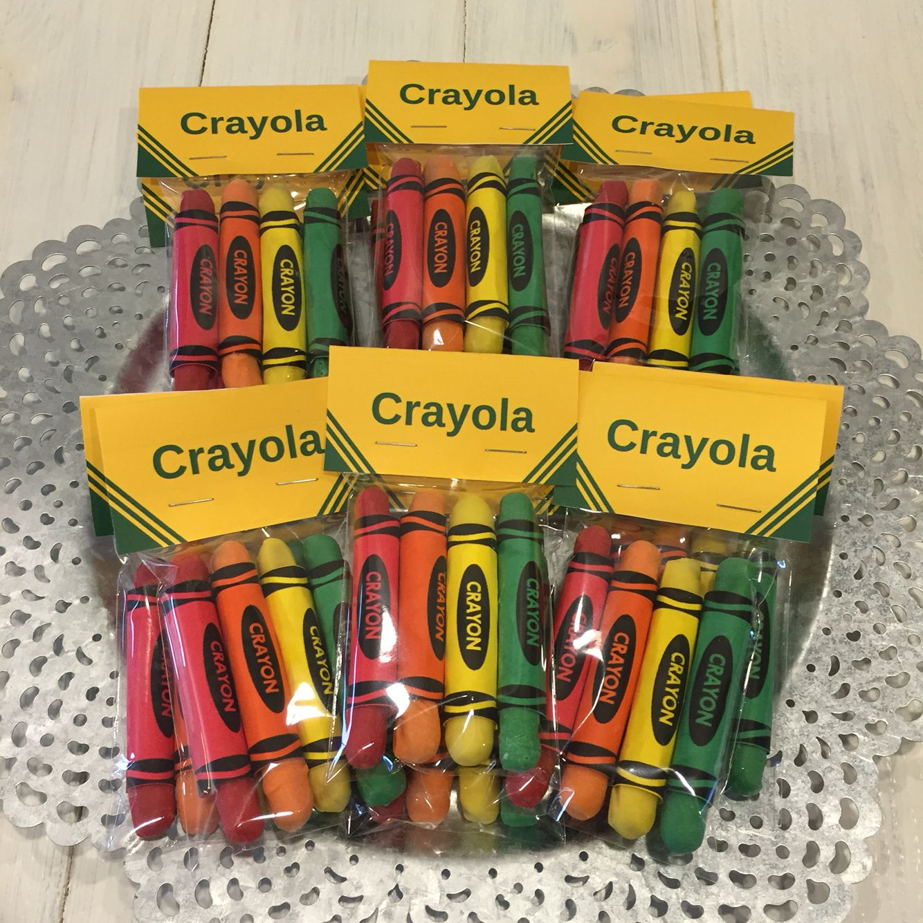 Chocolate Dipped Pretzel Sticks For Color Crew Party Crayola Crayon Favors
