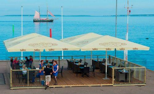 Nord Cafe kahvilan terassi Tallinna