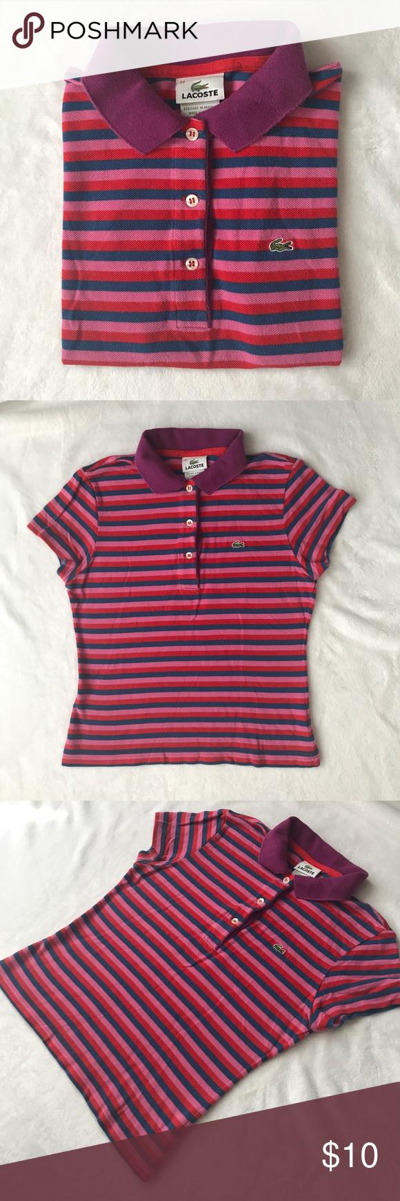Women's Lacoste Polo Shirt Petite Junior Size Women's Lacoste Polo Shirt for petites size 34 junior Lacoste Tops Blouses