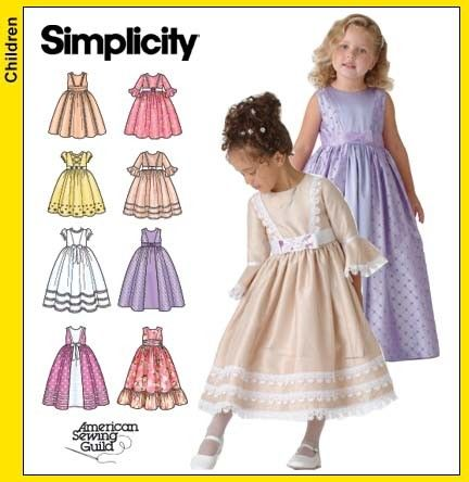 Simplicity 4337 Sewing Pattern Child's Flower Girl Dress Size 5-8 ...