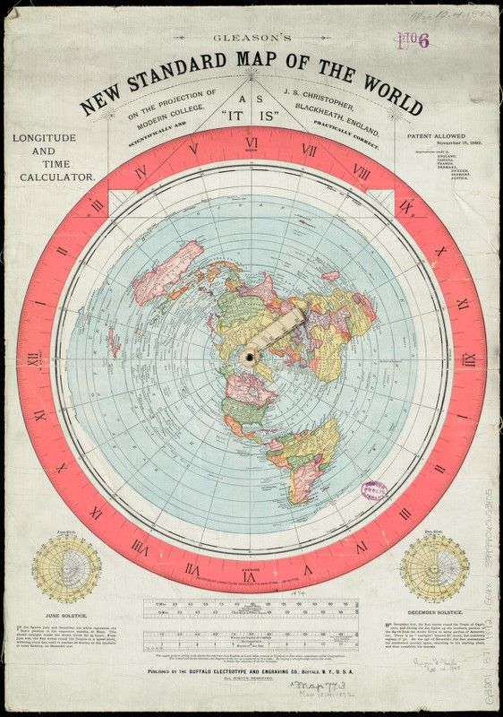 Pin by philip orellano sr on flat earth pinterest flat earth gleasons new standard map of the world flat earth map 1892 hogwash gumiabroncs Gallery