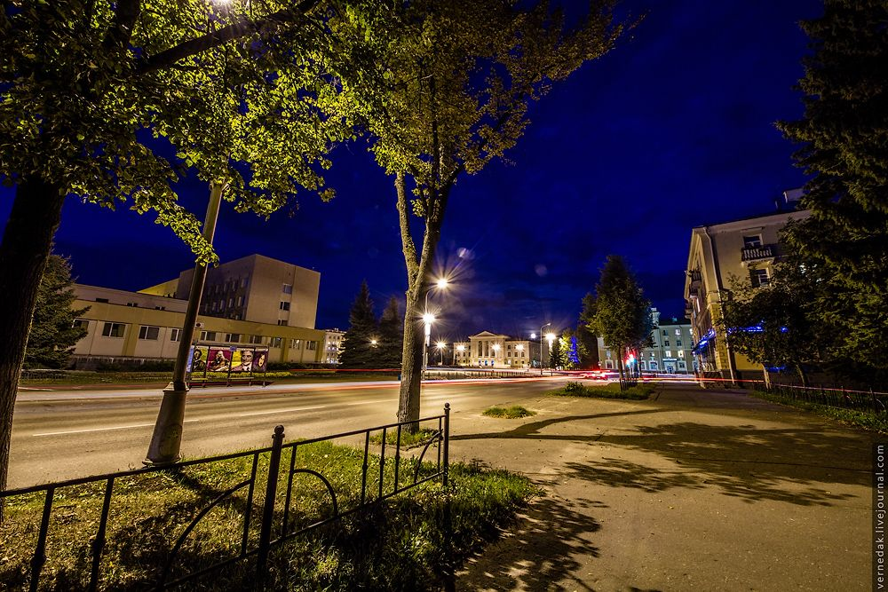 Фото ночного абинска