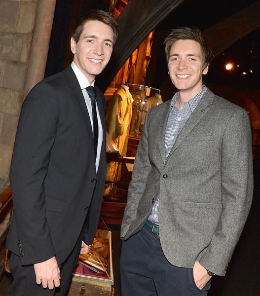 """Surprise! Fred and George Weasley actually weren't redheads in real life! Twins James Phelps and Oliver Phelps, now 29, dyed their hair for their """"Harry Potter"""" roles! The two remain active in the """"Harry Potter"""" fan community, frequently attending events including the opening of """"Harry Potter: The Exhibition"""" in Saint-Denis, France, in April 2015."""